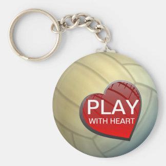 Porte-clés Jeu avec le porte - clé de volleyball de coeur