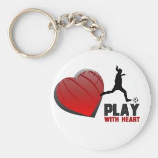 Porte-clés Jeu avec le porte - clé du football de filles de