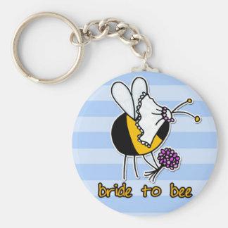 Porte-clés jeune mariée à l'abeille