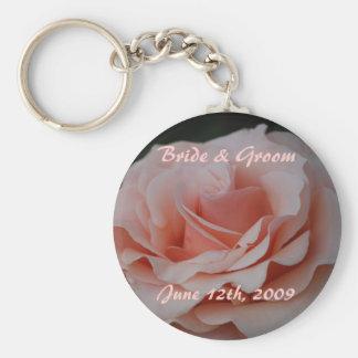 Porte-clés Jeune mariée de rose de rose et porte - clé de
