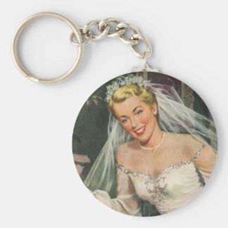 Porte-clés Jeune mariée vintage avec la demoiselle de honneur