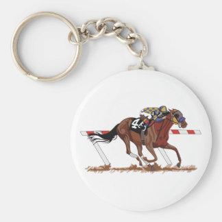 Porte-clés Jockey sur le cheval de course