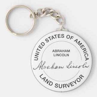 Porte-clés Joint d'arpenteur de terre d'Abraham Lincoln USA