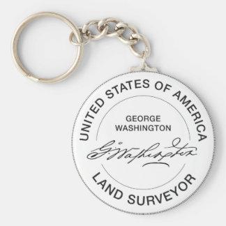 Porte-clés Joint d'arpenteur de terre de George Washington