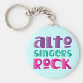 Porte-clés Joli cadeau de roche de chanteurs d'alto