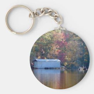 Porte-clés Jolie réflexion - Boathouse par l'eau