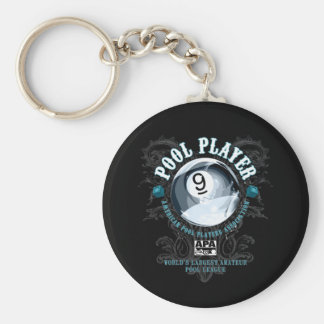 Porte-clés Joueur 9-Ball en filigrane de piscine