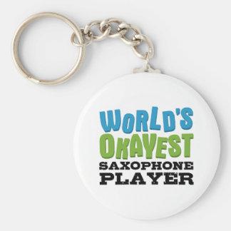 Porte-clés Joueur de saxophone d'Okayest du monde