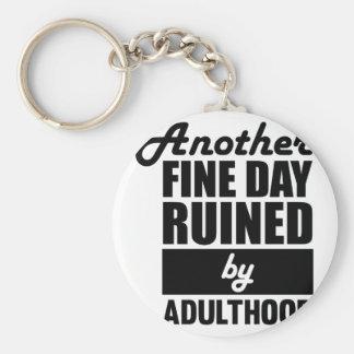 Porte-clés Jour beau ruiné