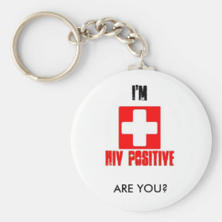 Porte-clés Jour national de conscience de SIDA de porte - clé