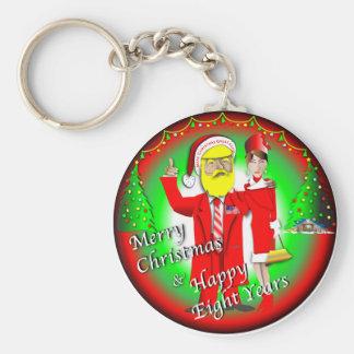 Porte-clés Joyeux Noël et huit années heureuses
