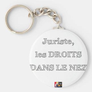 Porte-clés Juriste, les DROITS DANS LE NEZ - Jeux de Mots