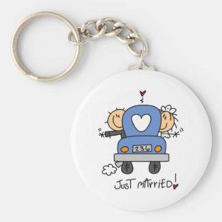 Porte-clés Juste chiffre marié porte - clé de bâton de