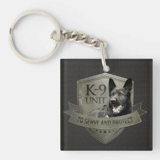 Porte-clés K-9 unité GSD - chien de berger allemand de