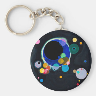 Porte-clés Kandinsky abrégé sur plusieurs cercles