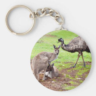 Porte-clés Kangaroo_And_Emu, _