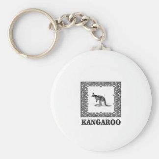 Porte-clés kangourou carré