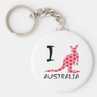 Porte-clés Kangourou de l'Australie du coeur I