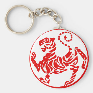 Porte-clés Karaté rouge de Japonais de tigre de Shotokan
