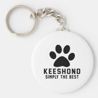 Porte-clés Keeshond simplement le meilleur