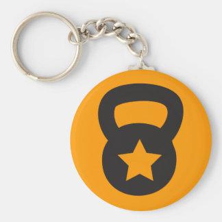 Porte-clés Kettlebell avec une étoile vide