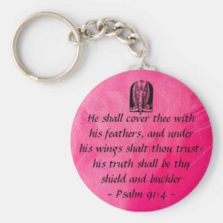 Porte-clés Keycahin de 91:4 de psaume