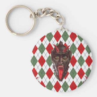 Porte-clés krampus de Noël de plaid