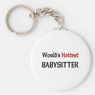 Porte-clés La babysitter la plus chaude des mondes