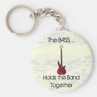 Porte-clés La basse tient le porte - clé de bande ensemble