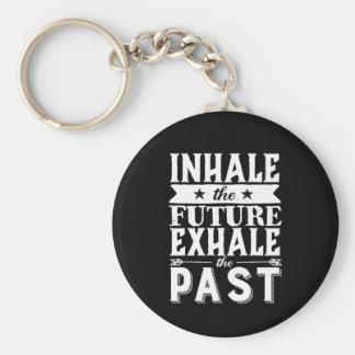Porte-clés La citation de motivation inhalent l'avenir