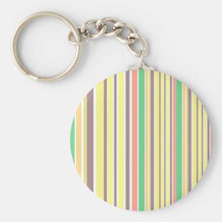 Porte-clés La conception raye le bambou doux