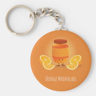 Porte-clés La confiture d'oranges de sourire bloquent le