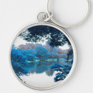 Porte-clés La couleur bleue a effectué la nature fraîche et