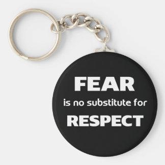 Porte-clés La crainte n'est aucun substitut pour le respect
