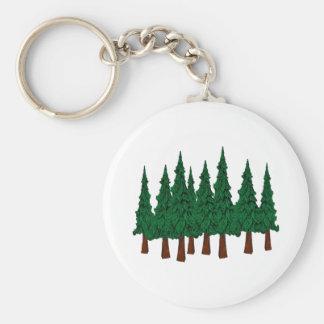 Porte-clés La forêt à feuillage persistant