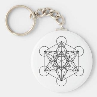 Porte-clés La géométrie sacrée de cube en Metatron