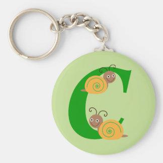Porte-clés La lettre C Brian de monogramme l'escargot badine