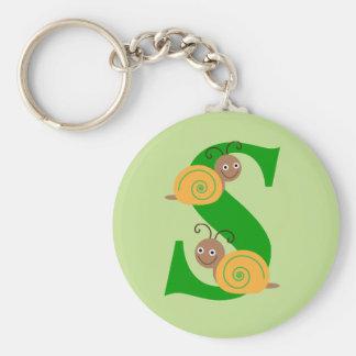Porte-clés La lettre S Brian de monogramme l'escargot badine