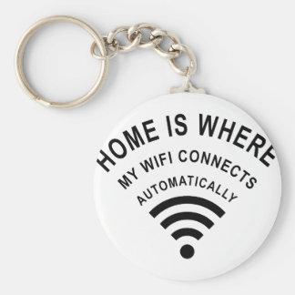 Porte-clés La maison est où mon wifi se relie automatiquement
