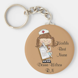 Porte-clés La meilleure infirmière du monde personnalisée