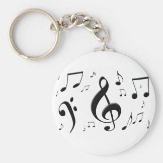 Porte-clés La musique de enflement note le porte - clé