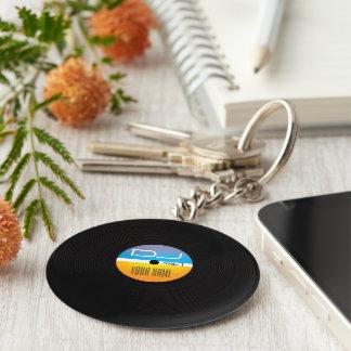 Porte-clés La musique DJ dénomment la couverture de vinyle