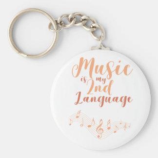 Porte-clés La musique est ma 2ème musique de langue de la