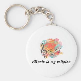 Porte-clés La musique est ma religion