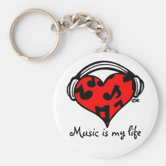 Porte-clés La musique est mon vie-Porte - clé
