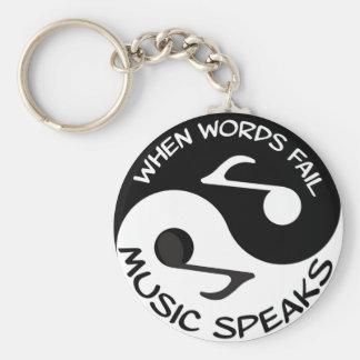 Porte-clés La musique parle