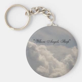 Porte-clés Là où porte - clé de sommeil d'anges