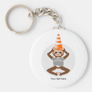 Porte-clés La paresse drôle soit une licorne
