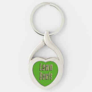 Porte-clés La pelouse verte roule logo d'image,