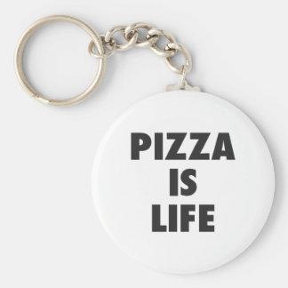 Porte-clés La pizza drôle est copie d'aliments de préparation